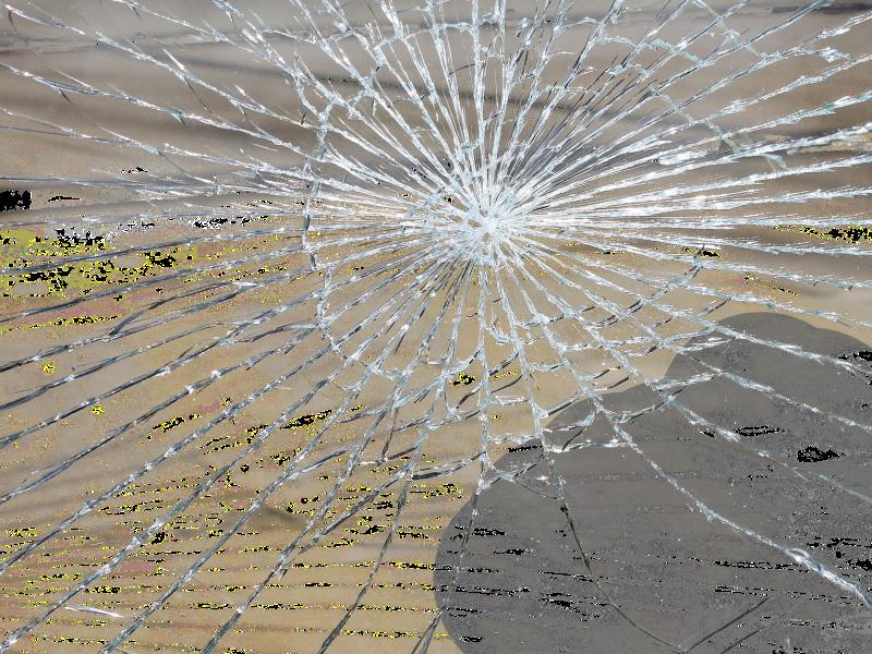 Schäden an der Windschutzscheibe